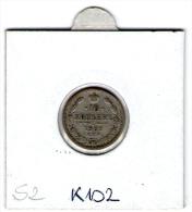 "RUSSIA , RUSSLAND , 10 KOPEKS  1902  SPB  ""AR""     SILVER COIN - Russie"