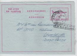 00767a Namur 1959 Aerogramme Gff Bilingue Trouvé ...in De Bus.. V. Belgisch Congo Belge Léo - Luftpost