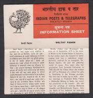 INDIA, 1980, Welthy Fisher, (Educationist),  Folder - India