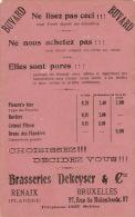 Biere Brasserie Buvard Des BRASSERIES DEKEYSER à Renaix Bruxelles - Autres Collections