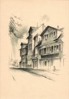 Häusergruppe Am Oberen Hirschgraben Original-Lithographie Von Otto Baumberger Vor Dem Ehemaligen Lindentor Blattgröße 30 - Lithographies