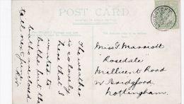 POSTAL HISTORY -19O6 SINGLE CIRCLE CANCELLATION -LOWESTOFT - Storia Postale