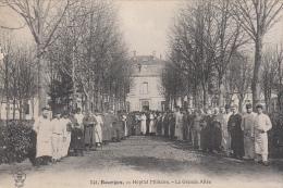 18 - Bourges - Hôpital Militaire - La Grande Allée (animation) - Bourges