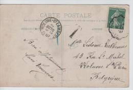 00848a Versailles 1907 V. Woluwe-St. Lambert C. Arrivée  Gff T+1 En Bleu CP Hameau Marie-Antoinette-Le Boudoir - 1906-38 Semeuse Con Cameo