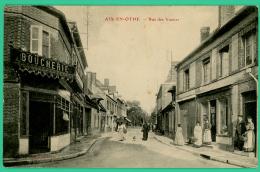 Aix En Othe - Aube -  Rue Des Vannes - Boucherie  - Animé - Troyes