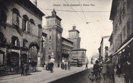 [DC7360] FERRARA - PIAZZA COMMERCIO E PIAZZA PACE - Old Postcard - Ferrara