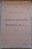 Notice Lance-bombes Michelin N°1 Avion Breguet 14 Aviation - Avion
