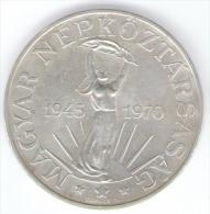 UNGHERIA 100 FORINT 1970 AG SILVER - Ungheria