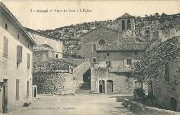 CPA 07 VOGUE PLACE DU PONT L'EGLISE JOLI PLAN - France