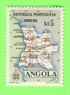 TIMBRES, ANGOLA - CARTE GÉOGRAPHIQUE- TIMBRE NEUF - - Angola