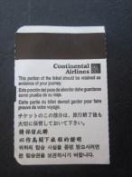 Titre De Transport Billet D'embarquement Sur Avion Continental Air Lines Paris/Houston France /États-Unis D'Amérique - Billets D'embarquement D'avion