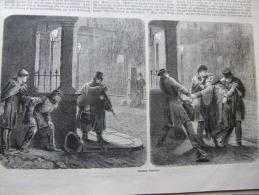 Londoner Garotters - Robbers -London   1863-engraving ILZ1863.95 - Estampes & Gravures