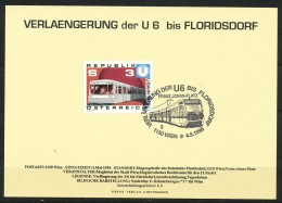 Österreich - Sonderstempel - U6    1996 Auf Sammelkarte - Frankiert Mit Mi.Nr.: 1567 - Marcofilie - EMA (Print Machine)