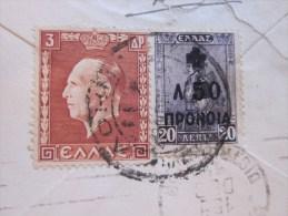 1938 Lettre Mignonnette De Grèce Greece Affranchissement Timbres Surchargé Pour Paris-17e - Greece