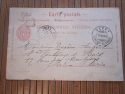 Entier Postal Entier Postaux Postkarte Carte Postale SEPEY(Ormont) En Suisse Sviizzera 26/7/1905 PourFontenay-sous-Bois - Interi Postali
