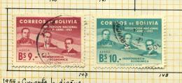 Bolivie 1953 Y&T PA 147 148 ° - Bolivie