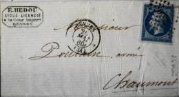 LETTRE  ANCIENNE Avec Correspondance  Affr. 20c Nap.III  - Cachet RENNES Daté 26 Mai 1860 - 1849-1876: Classic Period