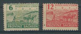 SBZ Provinz Sachsen Mi No. 85 - 86 A ** postfrisch
