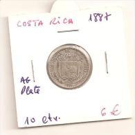 COSTA RICA 10 CENTAVOS 1887 PLATA - Costa Rica