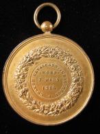 M01603 Cavalcade De Charleroi 1886 Et Léopold II Au Revers (97 G.) - Other