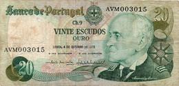 PORTUGUESE 20 ESCUDOS 1978  4-10-1978 - Portugal