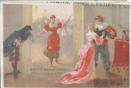 Teinturier/La Petite Mademoiselle/ PERPIGNAN/ Pyrénées Orientales/Vers 1875-1885    IM471 - Trade Cards