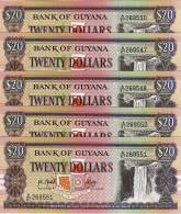 Guyana : 20 Dollars 1987 ? : UNC - Guyana