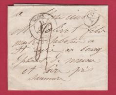 LETTRE DE BLOIS  //  POUR SAUMUR  //  OCT 1841 - 1801-1848: Precursors XIX