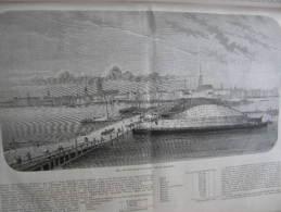 Latvia - Riga, Vom Linken Dünaufer Aus Gesehen   1863 -engraving  ILZ1863.135 - Prenten & Gravure
