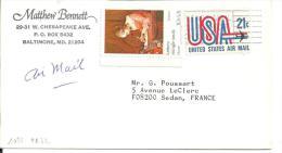 USA - Lettre N°1025 - PA N°72 - Marcophilie