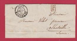 LETTRE DE GRENOBLE  //  POUR ALBERVILLE  //  12 NOV 1850 - 1849-1876: Classic Period