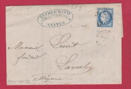 FACTURE DE NANTES // POUR LAVAL  //   26 JUIL 1873  //  ETAB RIOM - 1849-1876: Classic Period