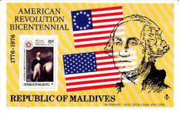 Malediven Maldives 1976 Yvertn° Bloc 35 *** MNH Cote 75 FF Etats Unis Bicentenaire - Maldives (1965-...)