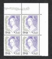 Italia 2002   Quartina €. 0,23 - La Donna Nell´Arte Affresco Di F. Lippi Nuovi** Integri -IPZS ROMA - 6. 1946-.. Repubblica