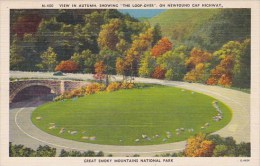 Tennessee Smoky Mountains View In Autumn Showing The Loop Over O