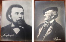 2 GRANDI FOTO Cm. 30 X 40, Originali ANNI '30, Ritratti MUSORGSKIJ E WAGNER - Famous People