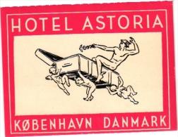 HOTEL LABELS  DANMARK   5 P Kobenhaven  Astoria  Richmond  Imperial   SORO  Bornholm - Hotelaufkleber