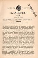 Original Patentschrift - H. Wenzel Und J. Herbst In Schönlinde / Krásná Lipa , 1892 , Schaftmaschine , Weberei , Weber ! - Maschinen