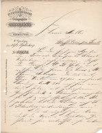 1897 St Petersburger Compagnie Nadeshda Verwaltung Litho Rechnung Schreiben Lettre Facture Invoice - Autres