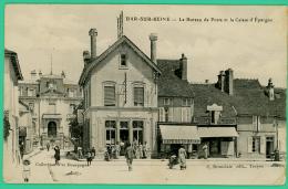 Bar Sur Seine - Aube - Bureau De Poste - Caisse D'Epargne   - Animé - Bar-sur-Seine