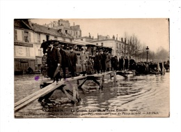 Paris , Inondations  , Quai De Passy - Paris Flood, 1910