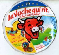 """étiquette De Boite De Fromage 8 Portions """" La Vache Qui Rit """" ( Serie 76016125) Protection Et Croissance - Fromage"""