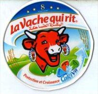 """étiquette De Boite De Fromage 8 Portions"""" La Vache Qui Rit """" ( Serie 75013830) Protection Et Croissance - Fromage"""