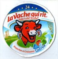 """étiquette De Boite De Fromage 24 Portions"""" La Vache Qui Rit """" ( Serie 75013832) Protection Et Croissance - Fromage"""