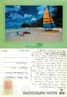 Rockley Beach, Barbados Postcard Posted 1990 Nice Stamp On Stamp - Barbados