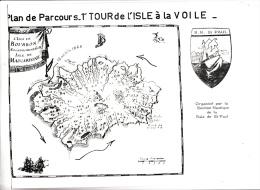 Plan De Parcours 1er Tour De L'isle à La Voile - Section Nautique De La Baie De Saint Paul - Isle Bourbon (Mascaregne) - Cartes Marines