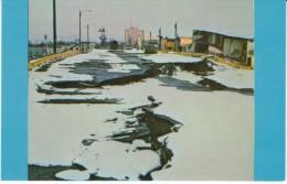 Anchorage Alaska, Earthquake Damage, Parking Lot Damage, C1960s Vintage Postcard - Andere