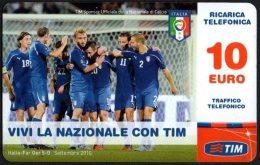 ITALIA - TIM RICARICA TELEFONICA - 10 EURO - NAZIONALE ITALIANA CALCIO - SCADENZA FEBBRAIO 2013 - USATA - Deportes