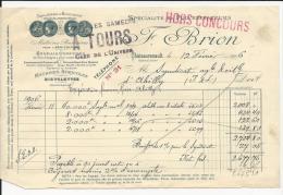 Facture, Spécialité De Pulvérisateurs, F.Brion, CHATEAURENAULT, Février 1906 - Agriculture