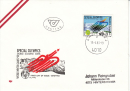 SPECIAL OLYMPICS, Wintergames 1993 In Austria, FDC !! - Other